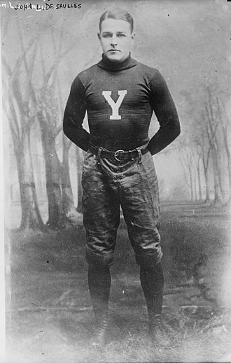 John de Saulles - de Saulles as Yale football player