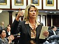 Debbie Mayfield gives thumbs up during a vote on an amendment under consideration on the House floor.jpg