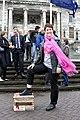 Deborah Morris-Travers Lend Your Leg Action at Parliament.jpg