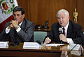 Defense.gov News Photo 100414-F-6655M-012 - Secretary of Defense Robert M. Gates and Peruvian Defense Minister Rafael Rey hold a press conference in the Peruvian Ministry of Defense in Lima.jpg