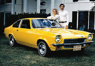 John DeLorean - John DeLorean and the Chevrolet Vega in 1970