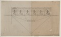 Design drawing for a navigational system for an airship employing six balloons and parachutes, a deck, superstructure, and basket below LCCN2002722690.tif