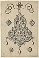 Design for the Verso of a Pear-Shaped Pendant Flanked by Lozenge Ornaments and Circular Ornaments Below MET DP837378.jpg
