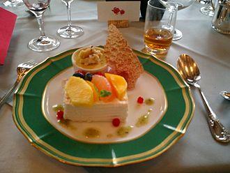 Dessert - A flourless chocolate cake (torte)