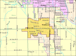 Detailed map of Haysville, Kansas