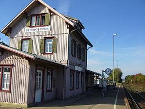 Dettingen unter Teck - Dettingen Teck Bahnhof 20070920