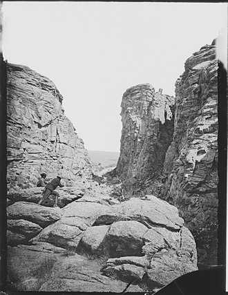 Devil's Gate (Wyoming) - Image: Devil's Gate, on the Sweetwater, Fremont County, Wyoming NARA 516896