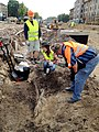Digging Lielā iela in Jelgava (Mitau). 68 years after capital of Kurland was burned by Russian aviation - panoramio.jpg