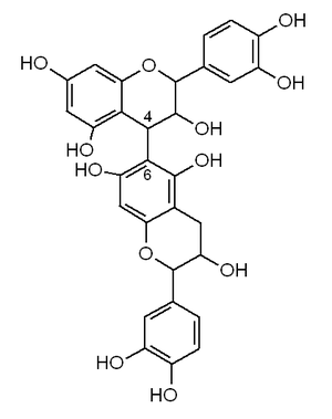 B type proanthocyanidin - chemical structure of a 4-6 dimeric B type proanthocyanidin