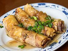 Tofu skin roll - Wikipedia