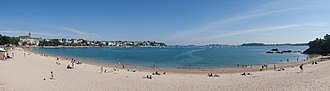 Dinard - Image: Dinard Beach Panorama, Brittany, France July 2011