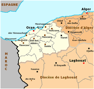 Roman Catholic Diocese of Oran - Map of the Diocese of Oran