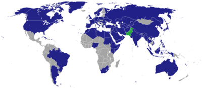 List of diplomatic missions in Pakistan - Wikipedia