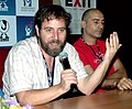 Director of the film 'No Exhit' Dror Sabo with Oded Davidoff, director of the film 'Some One To Run With' addressing après conference on November 28,2007 at IFFI ,Panaji,.jpg