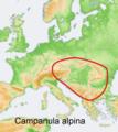 Distribution map Campanula alpina.png