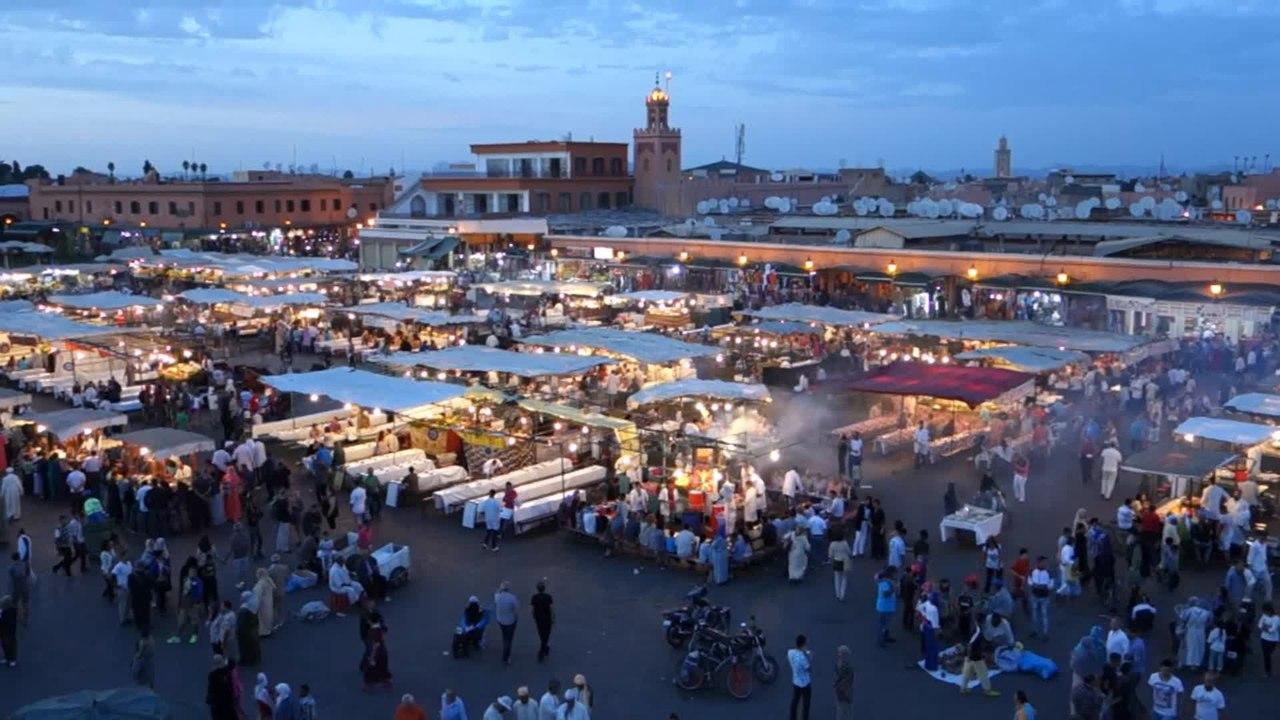 Marrakech Morocco  City new picture : Djemaa el Fna Marrakech Morocco.webm Wikimedia Commons