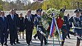 Dmitry Medvedev lays a wreath at the Armenian Genocide Memorial.jpg