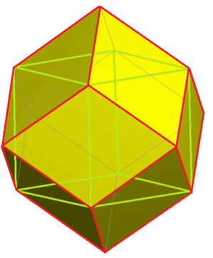 Rhombic dodecahedral honeycomb - Image: Dodecahedrille cell