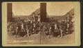 Donkey train, by Weitfle, Charles, 1836-1921.png