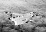 Douglas F4D-1 Skyray of VMF-115 in flight, 17 March 1957 (NNAM.1996.253.7328.022).jpg