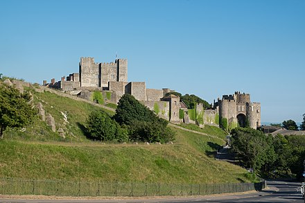 The castle from the north Dover Castle from the north.jpg