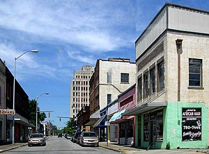 Ensley (Birmingham) - 19th Street through downtown Ensley