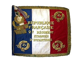 2nd Foreign Infantry Regiment - Recto of Regimental Colors