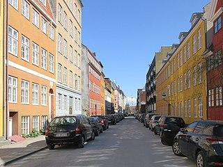 Dronningensgade street in Copenhagen Municipality, Denmark