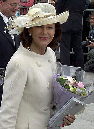 Queen Silvia of Sweden - Queen Silvia in Oslo during the celebration of the 100th anniversary of the dissolution of the union between Norway and Sweden.