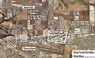 Sinaloa Cartel - Image: Drug Tunnel Corridors Otay Mesa San Diego