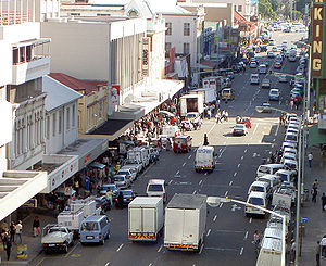 English: Commercial Street in downtown Durban ...