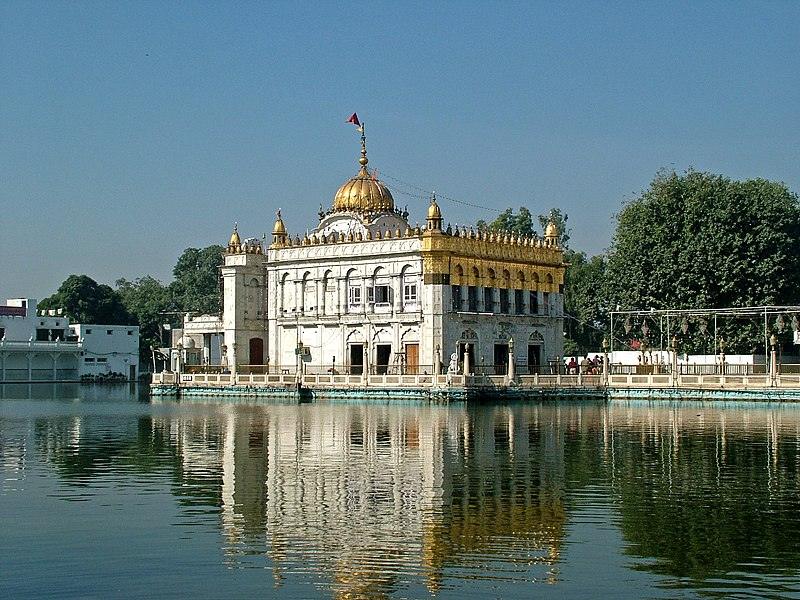 Front view of Durgiana Temple in Amritsar