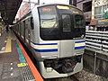 E217系量産先行車Y-1編成 津田沼駅.jpg