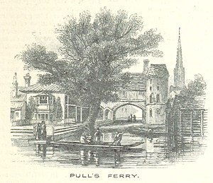 Pulls Ferry, Norwich - Pulls Ferry depicted in 1851