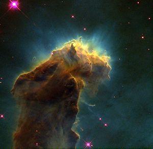 Eagle Nebula - Image: Eagle.column 1.arp.750pix