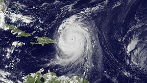 Hurricane Earl (2010) - Hurricane Earl as it moved away from the Leeward Islands on August 30