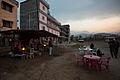 Early morning at the bus station at Pokhara (4514770885).jpg