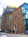 Early post-modernist architecture, South Quay E14.jpg