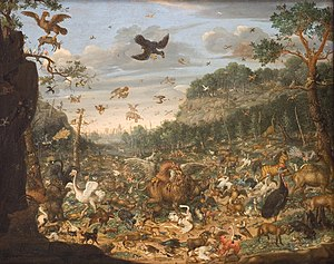 Roc (mythology) - 1690 painting by Franz Rösel von Rosenhof showing two roc-like birds carrying a deer and an elephant