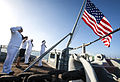 Easter sunrise service aboard Battleship Missouri Memorial 150405-N-PA426-316.jpg