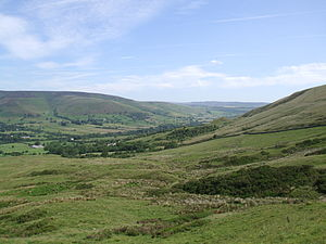 Peveril of the Peak - Vale of Edale in Derbyshire, north of Peveril Castle