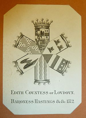 Edith Rawdon-Hastings, 10th Countess of Loudoun - Her bookplate