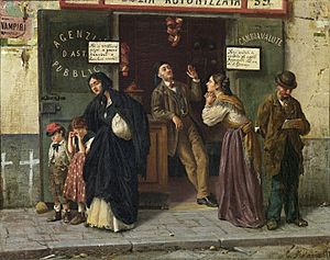 Edoardo Matania - At the Pawnbroker (1870s)