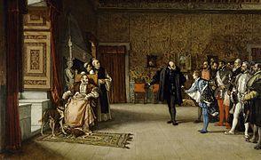 Eduardo Rosales - Juan de Austria's presentation to Emperor Carlos V in Yuste