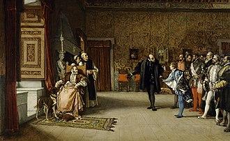 Eduardo Rosales - Image: Eduardo Rosales Juan de Austria's presentation to Emperor Carlos V in Yuste