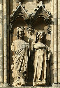 Edward I of England and Eleanor of Castile, Lincoln Cathedral.jpg