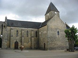 Aubigné-sur-Layon - The church in Aubigné-sur-Layon