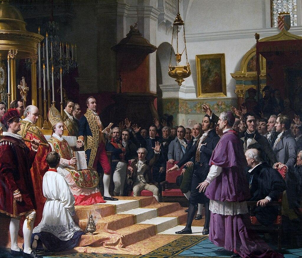 El juramento de las Cortes de Cádiz en 1810