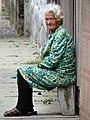 Elderly Woman in Street - Berehove - Ukraine (36572355811) (2).jpg