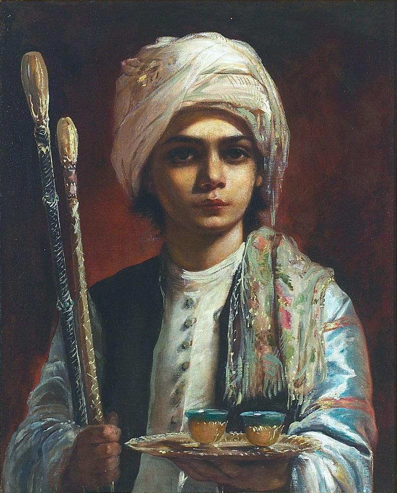 Элизабет Иерихау Бауманн - En tyrkisk pibedreng, Tschibuktschi.png